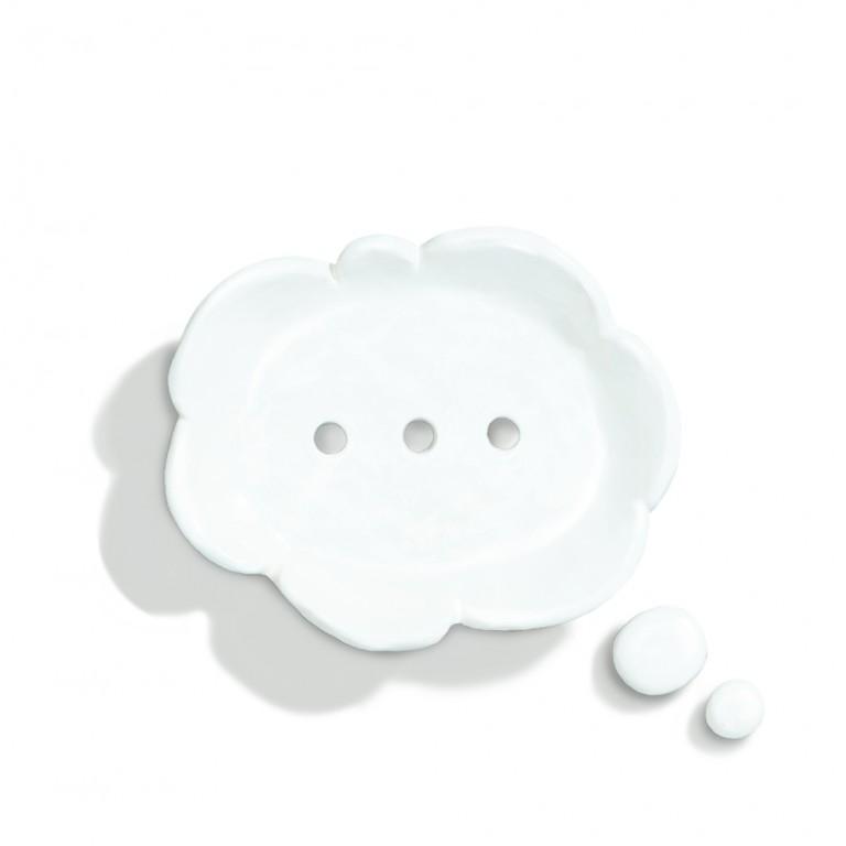 手工陶作-想像雲肥皂碟