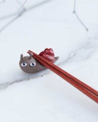手工陶作-蝸牛筷子架2