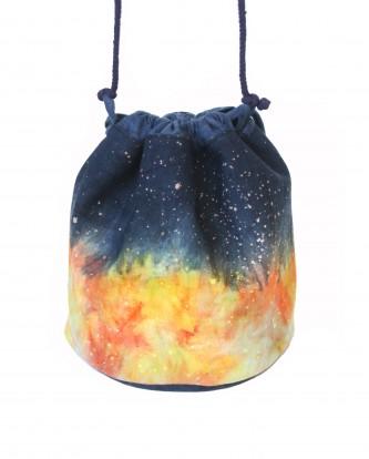 手染手縫銀河水桶包