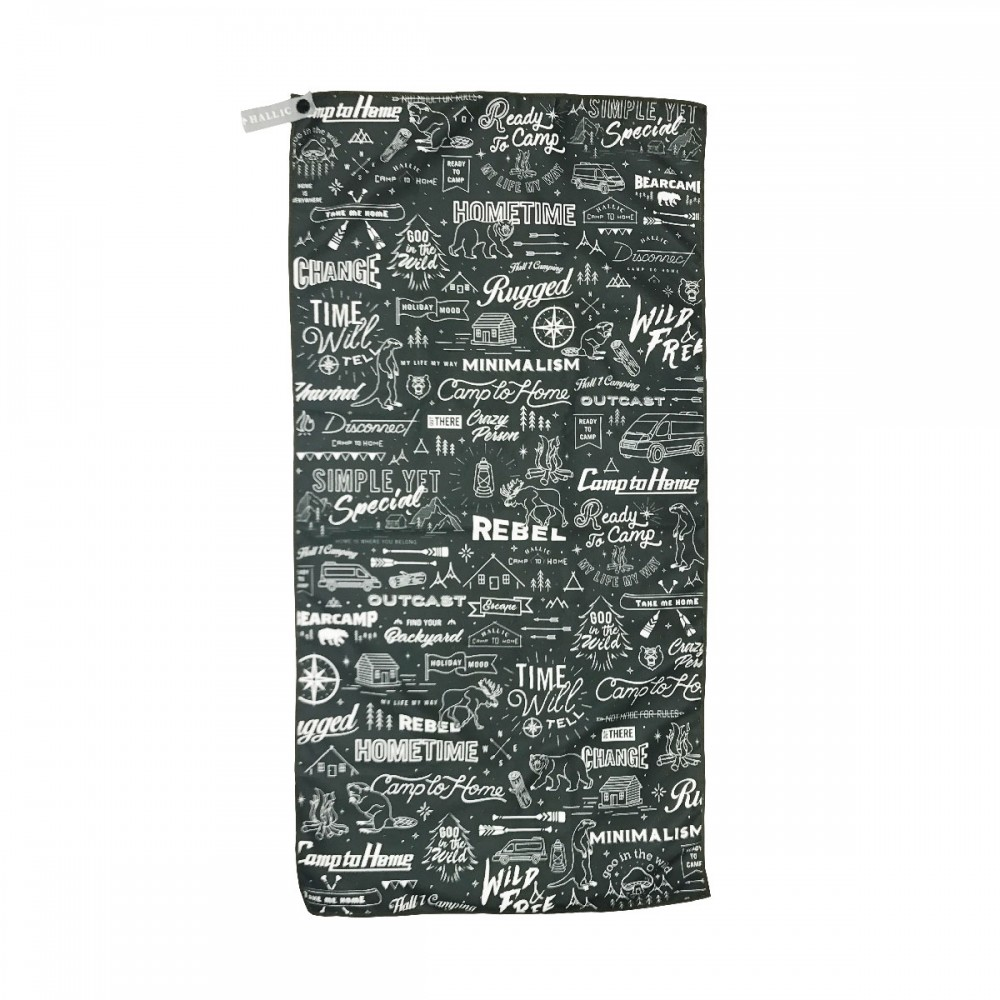 Quick-Dry-Towel---'Hike'-(Green)-pattern-front